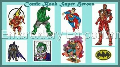 Comic Book Super Heroes Collection - Machine Embroidery Designs On Cd Or Usb