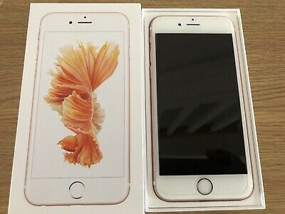 APPLE iPHONE 6S ROSE GOLD 32GB MOBILE SMARTPHONE PHONE BOXED UNLOCKED IMMACULATE
