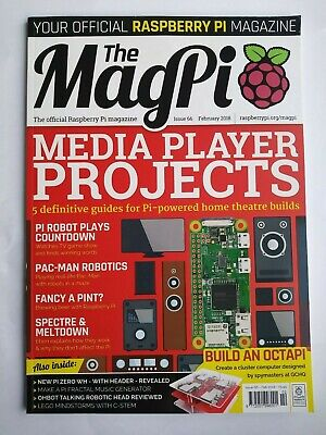 The MagPi Raspberry Pi official magazine issue 66 Feb 2018 RARE new other