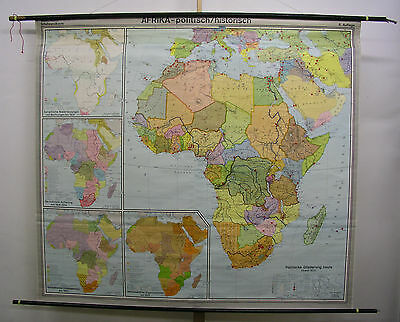 Schulwandkarte Wall Map School Map Map Africa Colony Africa 1972 206x186 Map