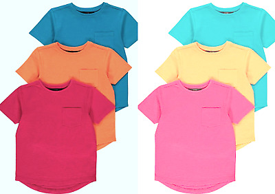 Kids Boys/Girls Unisex Crew Neck Short Sleeves T-Shirt Top 100% Cotton 5 to10YRS
