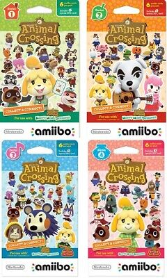 Animal Crossing Amiibo Cards Series 1 2 3 4 -- They will work in New Horizons!