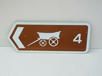 Rare Genuine Retired OLD WAGON  Sign old  roadsign  Man Cave.
