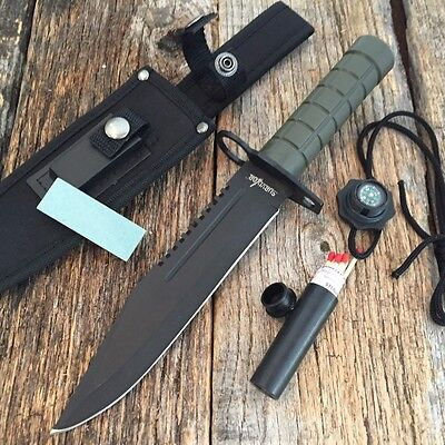 "12.5""  Bayonet Military Survival Kit Tactical Combat Hunting Knife BOWIE D"
