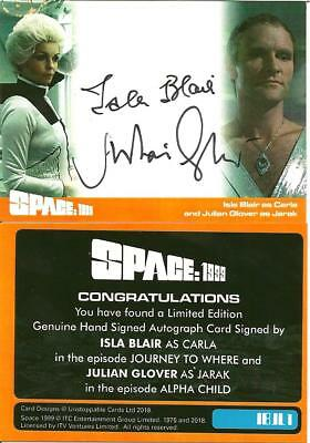 Unstoppable Cards Space 1999 2 Isla Blair Jullian Glover Dual Autograph Card  A