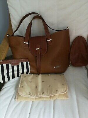 Baby Beau Ellie Tan Leather Changing Bag