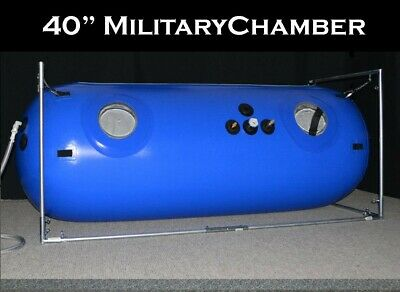 40in Military Hyperbaric Chamber SpaceousEnough for 2 for TBI Autism Concussions
