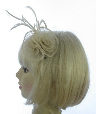Small Ivory Fascinator siamay on a clip weddings, races, prom