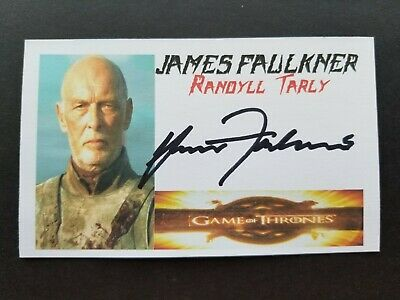 """GAME OF THRONES"" JAMES FAULKNER ""RANDYLL TARLY"" Autographed 3x5 Index Card"