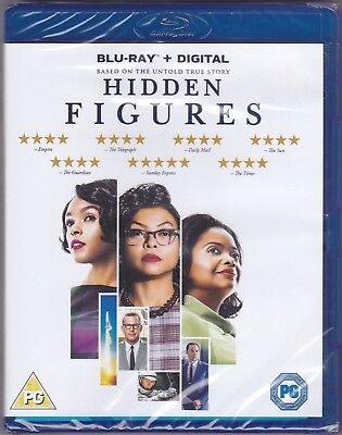 Hidden Figures (Blu-ray, Brand New & Sealed) A Great True Story