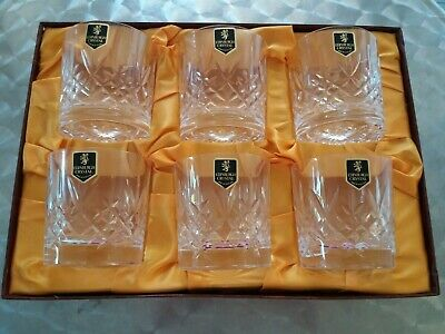 Edinburgh Crystal Set of 6 New Whisky Tumblers Glasses