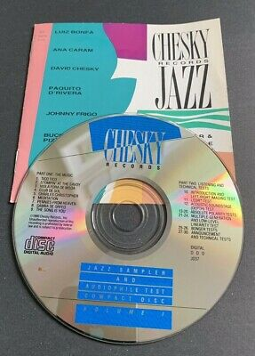 CHESKY JAZZ SAMPLER & Audiophile Test Compact Vol 1 Disc