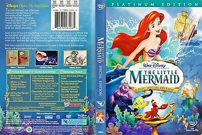 The Little Mermaid DVD Version Walt Disney Animated Classic Edition Movie Films