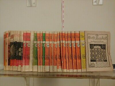 Lot of 31 Vintage Issues 1950s & 60s THE WORKBASKET Magazine booklet crafts