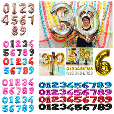 """Giant 40"""" Foil Number Self Inflating Balloons Birthday parties wedding ballons"""