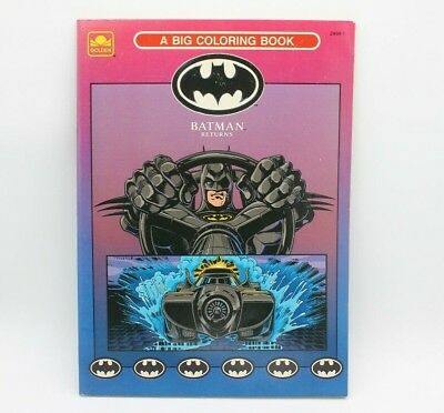 VINTAGE 1992 UNUSED PERFECT BATMAN RETURNS BIG Coloring Book ...
