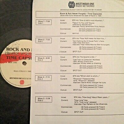 Radio Show: R & R Time Capsules 3/5/90 Ace,Stevie Nicks,Mickey Dolenz,Peter Wolf