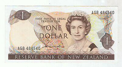 New Zealand $1 Paper Banknote #3