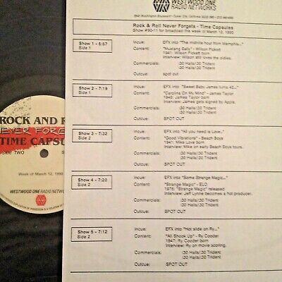 Radio Show: R & R Capsules 3/12/90 Mike Love,James Taylor, Ry Cooder,Jeff Cooder