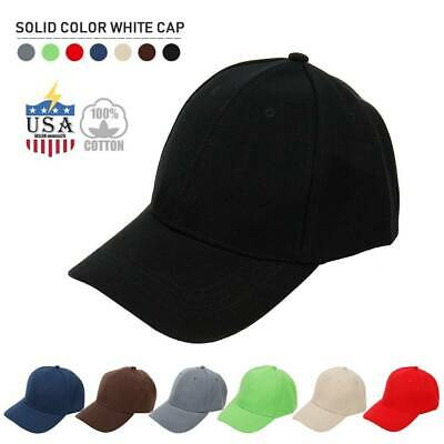 watch c6ace f215e Cotton Baseball Cap Washed Polo Style Hat Plain Adjustable Solid Dad Mens  Hats