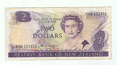 New Zealand $2 Paper Banknote #3