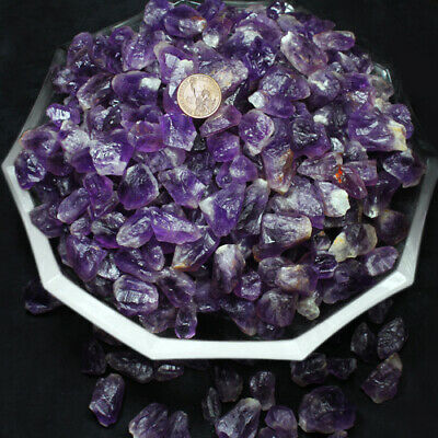 500CT100%Natural Mixed Lots of Unsearched Natural Amethyst  Rough Gemstone YAT3