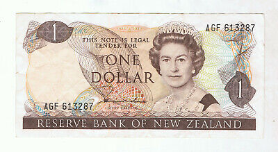 New Zealand $1 Paper Banknote #5