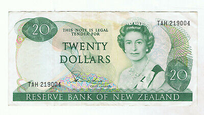 New Zealand $20 Paper Banknote