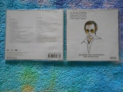 Elton John - Greatest Hits 2Cd Rare One Night Only 2004 Asian Tour Edition Best