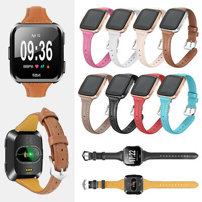 Replacement Genuine Leather Wristband Watch Band Strap Bracelet For Fitbit Versa