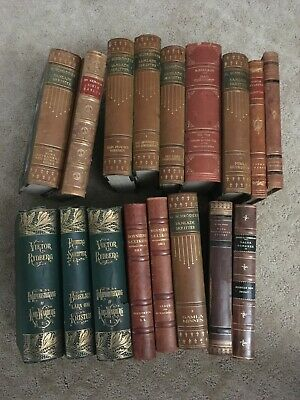 Large Lot of 17  Antique Swedish Books from Late 1800's & Early 1900's Sweden