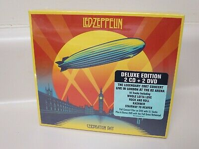 Led Zeppelin Deluxe Edition 2 CD + 2 DVD Celebration Day 2007 Concert Brand New