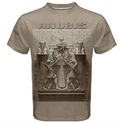 ANUBIS EGYPT Ancient Egyptian Soldier God Horus Pyramid Hieroglyphs T-SHIRT ANU