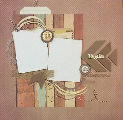 handmade scrapbook page 12 X 12 Dude You Are The Best Layout
