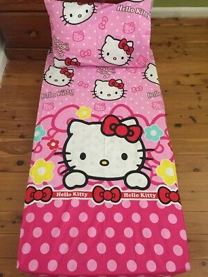 New Pink Hello Kitty Baby Cot Fitted Sheet + Pillowcase