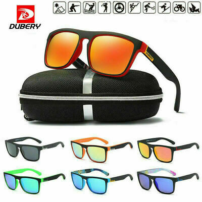 DUBERY Sport Polarized Driving UV400 Sunglasses Outdoor Riding Fishing Goggles