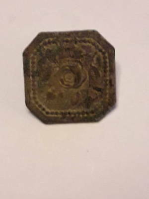 Rare Medieval Tudor Decorated Button with loop Metal Detecting Find