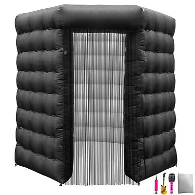 2.5M Inflatable LED Air Pump Photo Booth Tent Proms Exhibition Built-in Blower