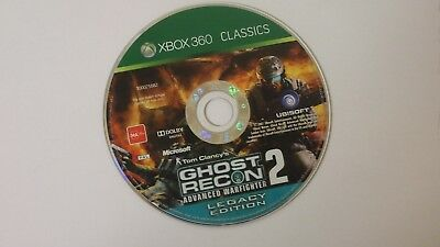 "Tom Clancys Ghost Recon 2  for Microsoft Xbox 360 PAL GAME ""DISC ONLY"" classics"