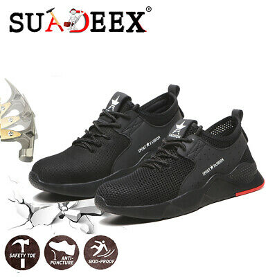 Mens Safety Work Shoes Steel Toe Light Protective Sneakers Hiking Sport Boots