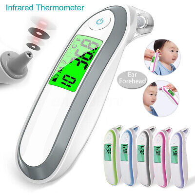 Digital IR Infrared Thermometer Ear Forehead Baby Kid Adult Surface Temperature