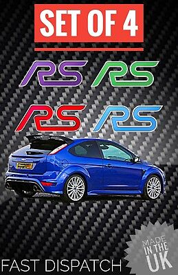 Focus RS Mk2 BADGE INLAYS COLOUR CODED RECARO TURBO UK