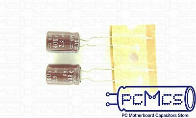15 Pcs of Nippon ChemiCon NCC KMG Series 400V 2.2UF Made in Japan Capacitor