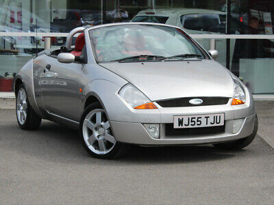 2005 55 FORD STREETKA 1.6i RED CONVERTIBLE 2dr [AC] - LEATHER - ONLY 68625 MILES