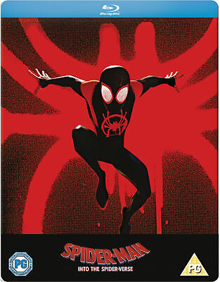 Spider-Man Into The Spider-Verse Steelbook / Blu Ray / WORLDWIDE SHIPPING