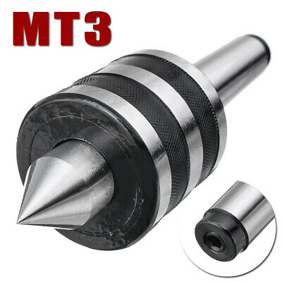 MT3 Rotary Lathes Live Milling Center Turning Morse Taper Triple Bearing Replace