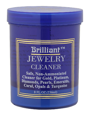 Brilliant, 8 Oz Jewelry Cleaner With Cleaning Basket And Brush