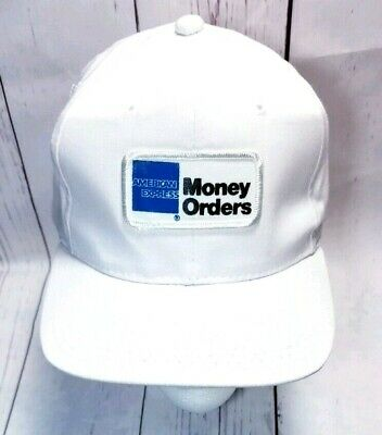 Vintage Snapback Hat American Express Money Order Advertising Patch Yupoong