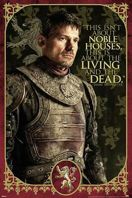Game of Thrones Poster - Jaime Zitat About the Living and the Dead, 61 x 91,5 cm