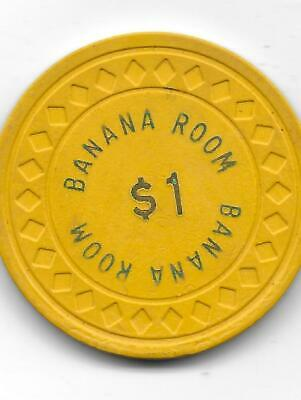 Obsolete Illegal Casino Chip From BANANA ROOM-Kingston, Jamica-CG080966-C 1941